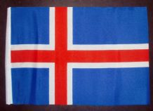 "ICELAND - SMALL BUDGET FLAG 9"" X 6"""
